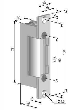 BeFo 511MB, 6-12V - rozměry