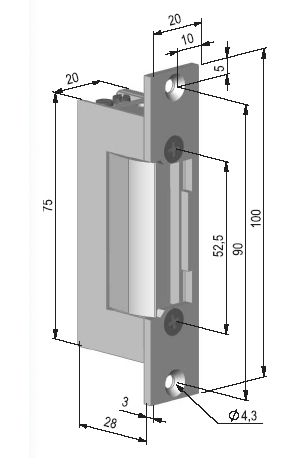 BeFo 1221MB, 12V - rozměry