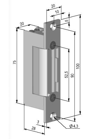 BeFo 31221, 12V - rozměry
