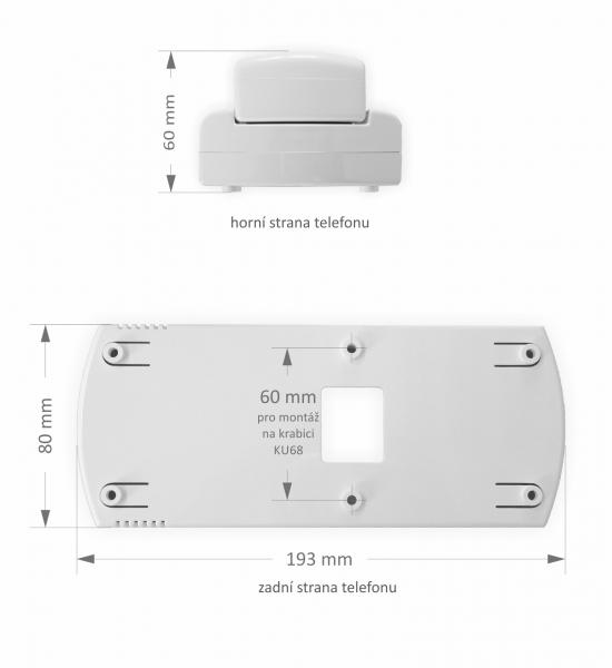 Domovní videotelefon Verona VIDEO - systém MELODY (ABS plast) - rozměry